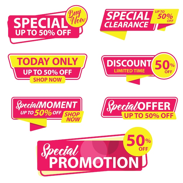 Szablon Promocji Promocji Sprzedaży Premium Wektorów