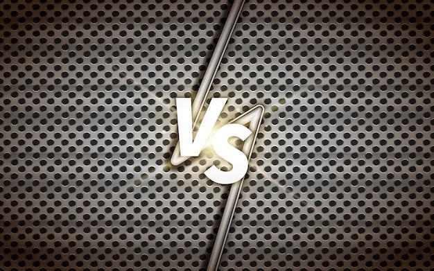Szablon Przemysłowy Kontra Ekranowy, Nagłówek Bitwy Na Metalowej Siatce Premium Wektorów
