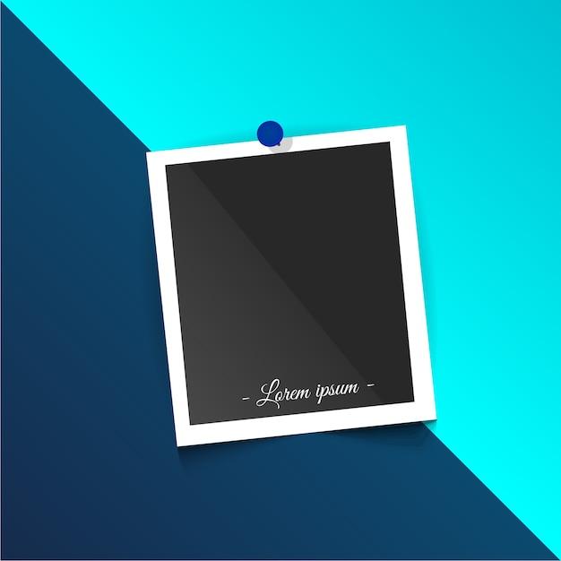 Szablon ramki polaroid Darmowych Wektorów
