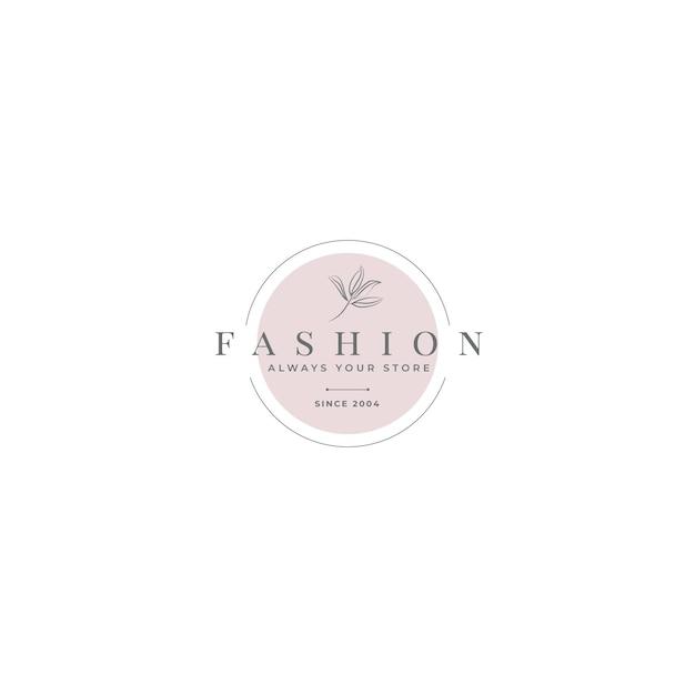 Szablon Redakcyjny Logo Mody Darmowych Wektorów