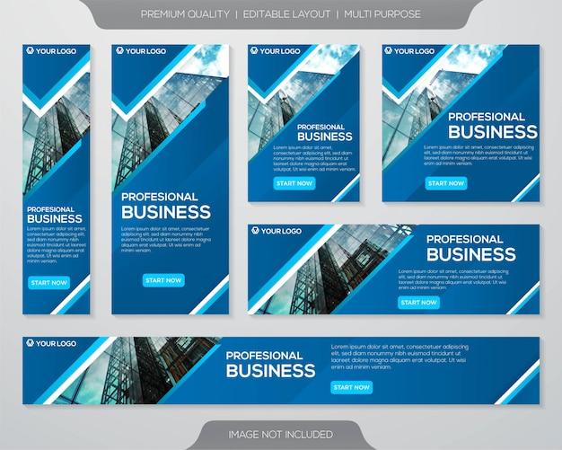 Szablon reklam zestaw promocyjny firmy Premium Wektorów