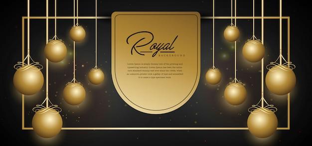 Szablon Royal Złote Tło Premium Wektorów