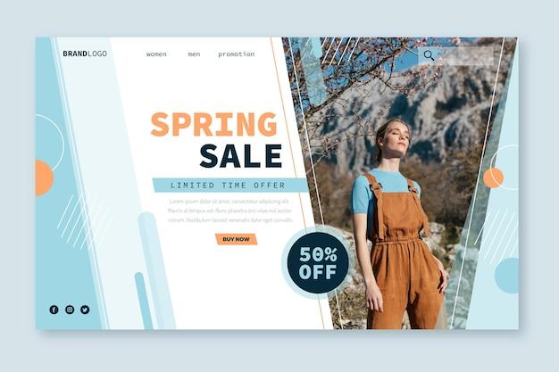 Szablon Sieci Web Strony Docelowej Sprzedaży Wiosna Model Darmowych Wektorów
