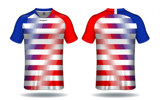 Szablon soccer jersey Premium Wektorów