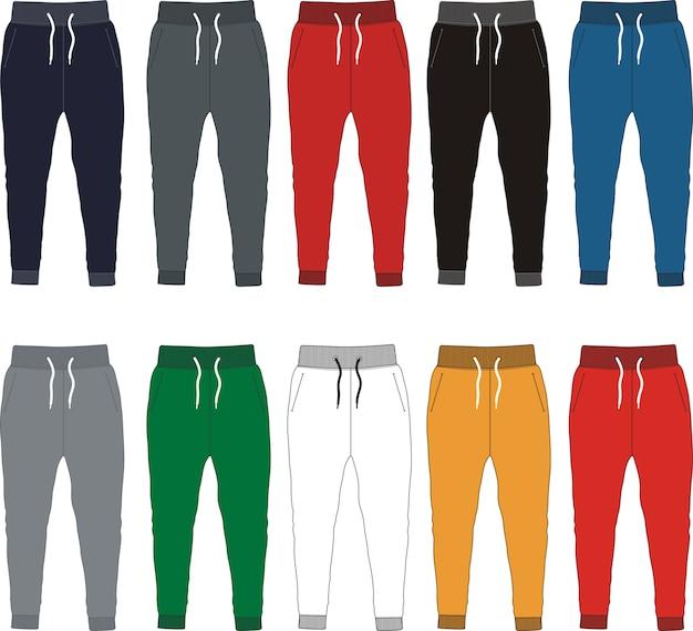 Szablon Spodnie Premium Wektorów
