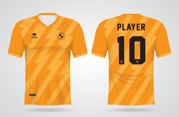 Szablon Sportowej żółtej Koszulki Do Strojów Drużynowych I Koszulki Piłkarskiej Premium Wektorów