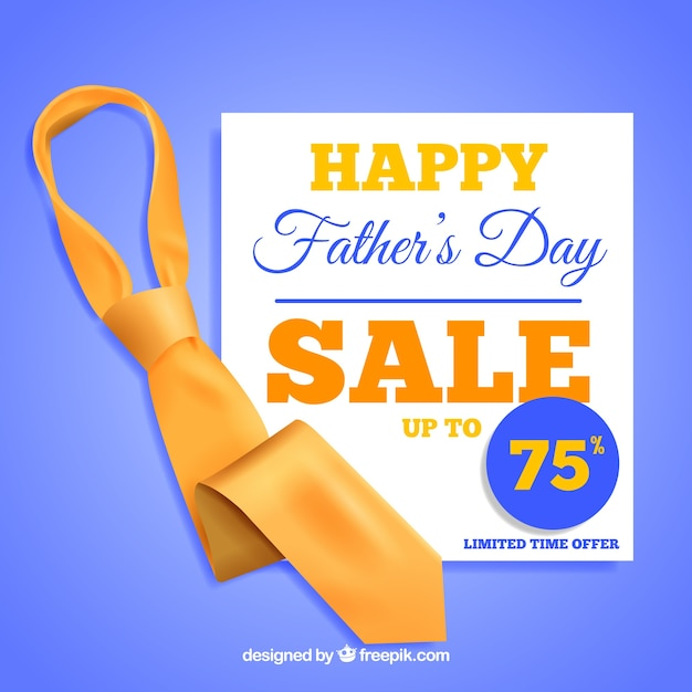 Szablon Sprzedaży Dzień Ojca Z Realistycznego Remisu Darmowych Wektorów