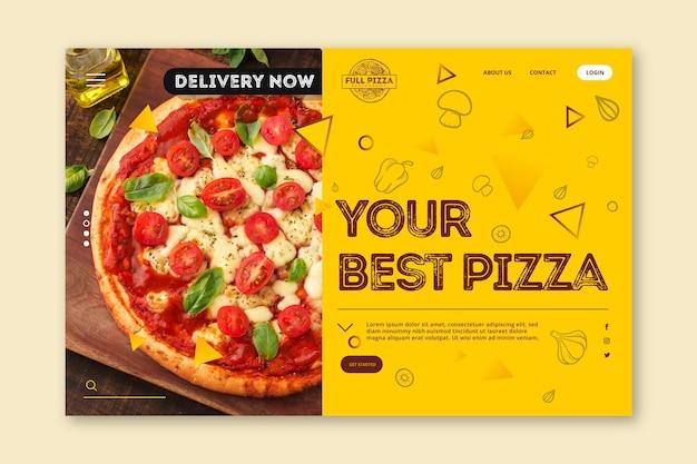 Szablon Strony Docelowej Dla Pizzerii Darmowych Wektorów