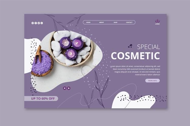 Szablon Strony Docelowej Dla Produktów Kosmetycznych Z Lawendą Darmowych Wektorów