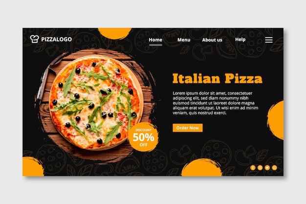 Szablon Strony Docelowej Dla Restauracji Włoskiej Darmowych Wektorów