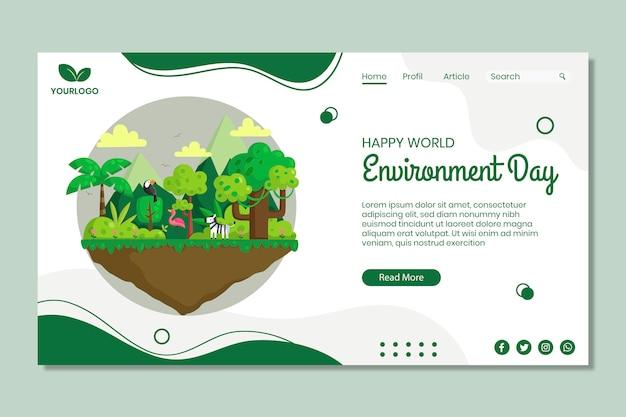 Szablon Strony Docelowej Dnia środowiska Darmowych Wektorów
