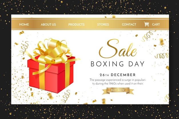 Szablon Strony Docelowej Drugiego Dnia świąt Bożego Narodzenia Premium Wektorów