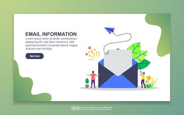Szablon strony docelowej informacji e-mail. nowoczesna koncepcja płaskiego projektowania stron internetowych dla stron internetowych i mobilnych Premium Wektorów
