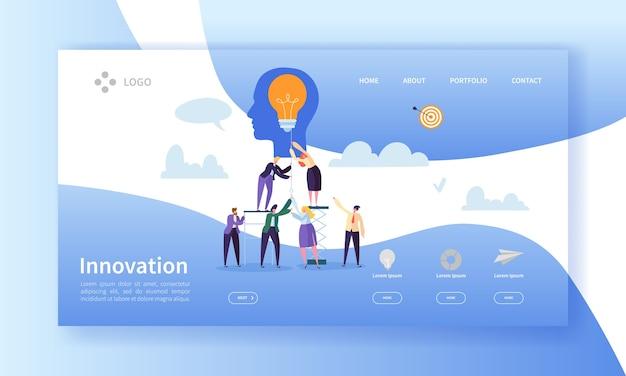 Szablon Strony Docelowej Innowacji Biznesowych Premium Wektorów