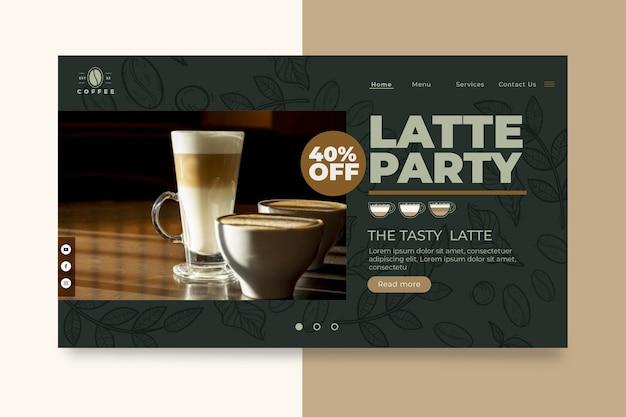 Szablon Strony Docelowej Kawiarni Kawiarni Darmowych Wektorów