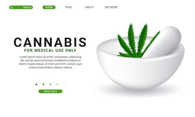 Szablon Strony Docelowej Marihuany Medycznej Premium Wektorów