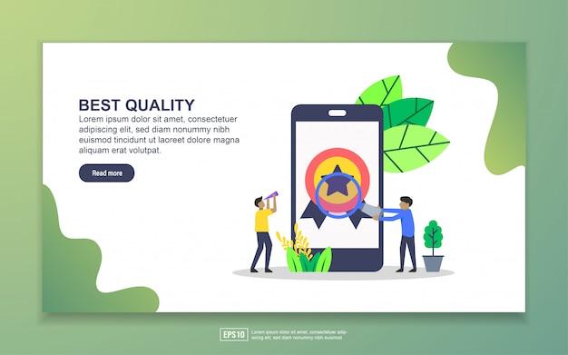 Szablon strony docelowej najlepszej jakości. nowoczesna koncepcja płaskiego projektowania stron internetowych dla stron internetowych i mobilnych Premium Wektorów