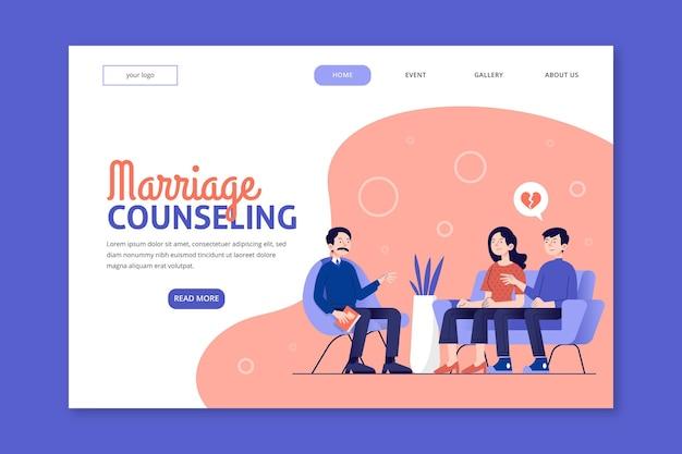 Szablon Strony Docelowej Poradnictwa Małżeńskiego Darmowych Wektorów