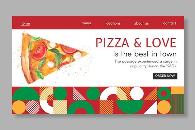 Szablon Strony Docelowej Restauracji Pizzy Darmowych Wektorów
