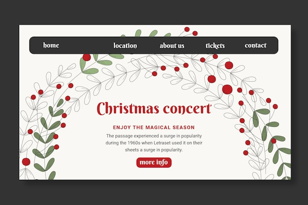Szablon Strony Docelowej Sprzedaży świątecznej Darmowych Wektorów