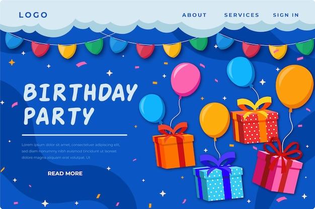 Szablon Strony Docelowej Urodzin Premium Wektorów