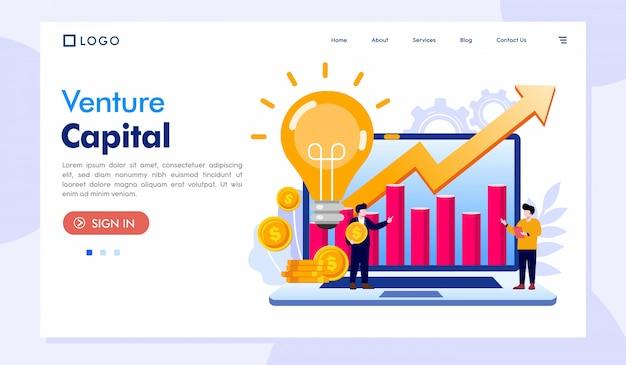 Szablon Strony Internetowej Venture Capital Landing Page Premium Wektorów