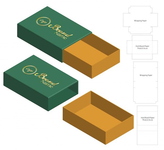 Szablon szablonu wycinany w pudełku Premium Wektorów