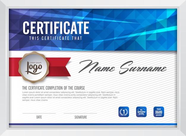 Szablon Tła Certyfikatu Premium Wektorów