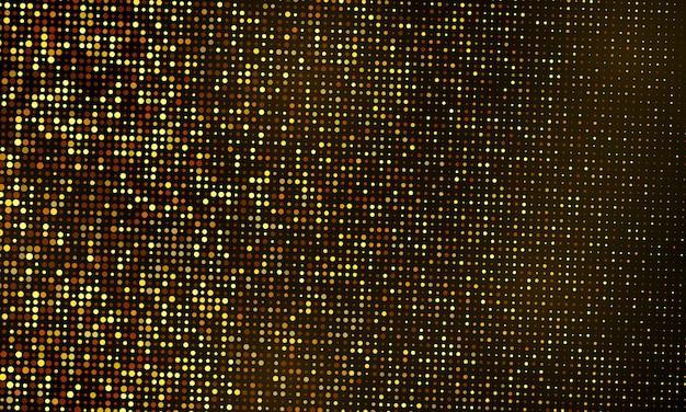 Szablon Tło Uroczystości świecidełka Z Konfetti I Złote Wstążki. Luksusowe Bogate Karty Okolicznościowe. Premium Wektorów