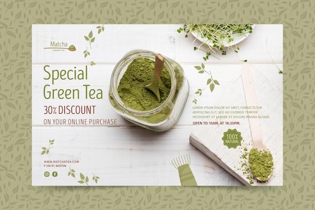 Szablon Transparent Herbaty Matcha Darmowych Wektorów