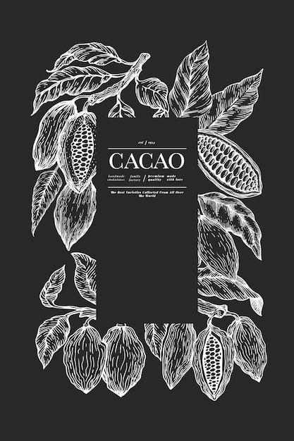 Szablon transparent kakao. Premium Wektorów