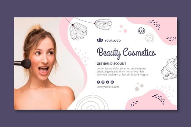 Szablon Transparent Kosmetyki Do Twarzy Uroda Premium Wektorów