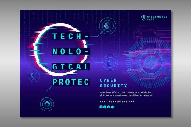 Szablon Transparent Kreatywnych Cyber Bezpieczeństwa Premium Wektorów