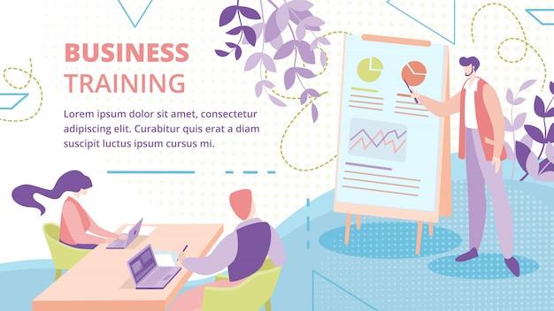 Szablon transparent kurs szkolenia biznesmeni Premium Wektorów