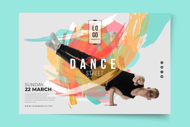 Szablon Transparent Lekcje Tańca Darmowych Wektorów