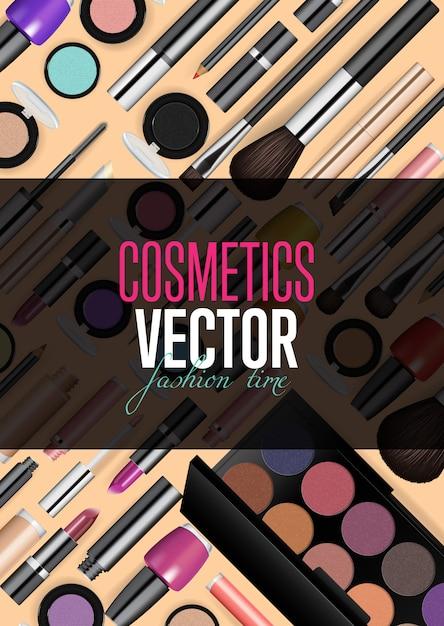 Szablon transparent nowoczesne akcesoria kosmetyki Premium Wektorów