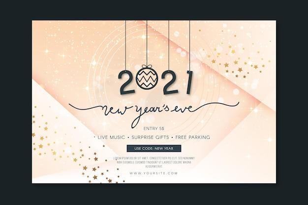 Szablon Transparent Nowy Rok Premium Wektorów
