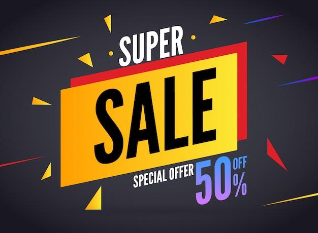 Szablon transparent oferta specjalna super sprzedaż Premium Wektorów