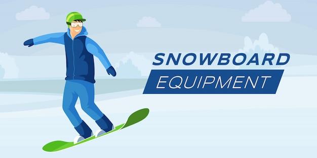 Szablon Transparent Płaski Kolor Sprzętu Snowboardowego Premium Wektorów