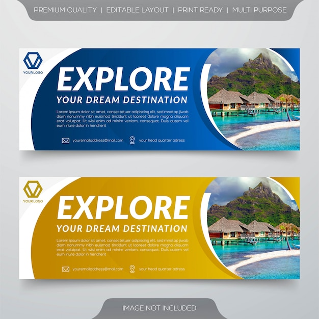 Szablon Transparent Podróży Premium Wektorów