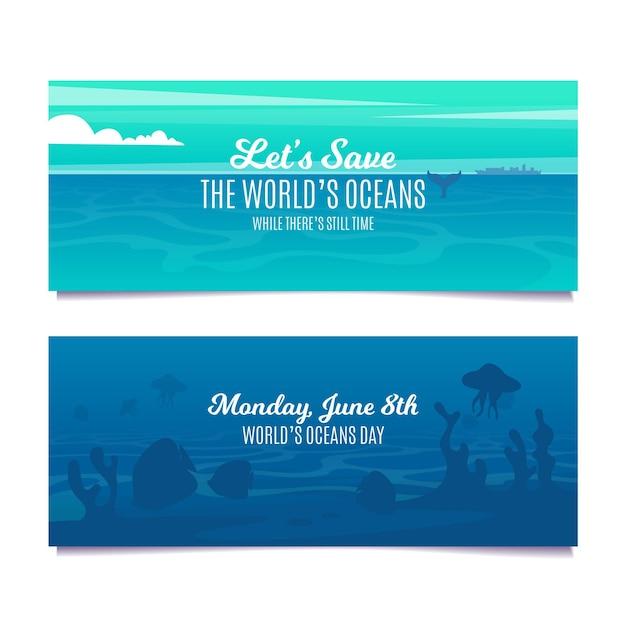 Szablon Transparent Podwodne Stworzenia Płaski Kształt Darmowych Wektorów