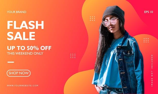 Szablon Transparent Promocja Sprzedaży Moda Premium Wektorów