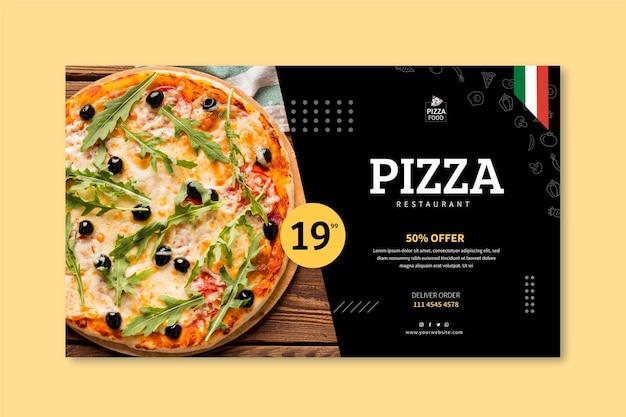 Szablon Transparent Restauracja Pizzy Darmowych Wektorów