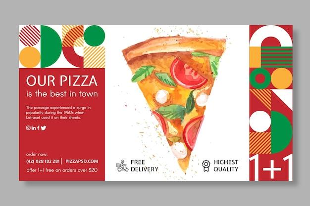 Szablon Transparent Restauracji Pizzy Darmowych Wektorów