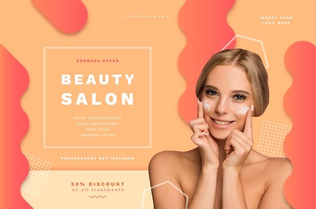 Szablon Transparent Salon Piękności Z Ofertami Specjalnymi Darmowych Wektorów