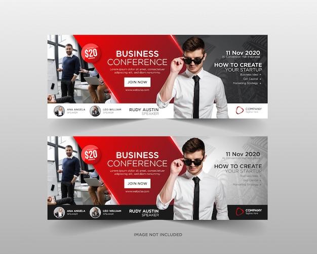 Szablon Transparent Sieci Web Konferencji Biznesowych Premium Wektorów