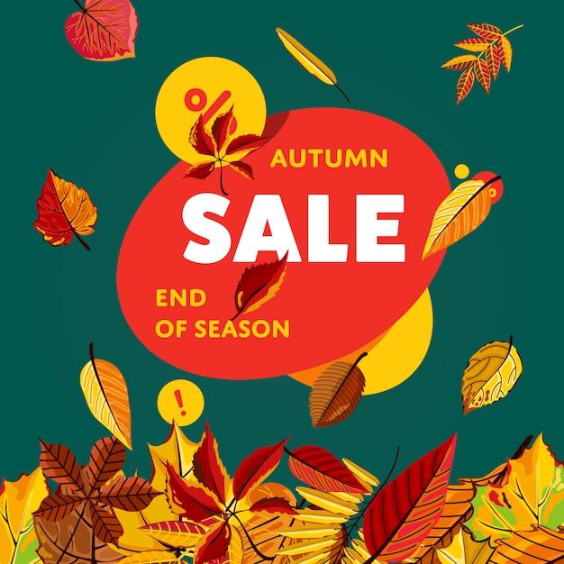 Szablon transparent sprzedaż jesień Premium Wektorów