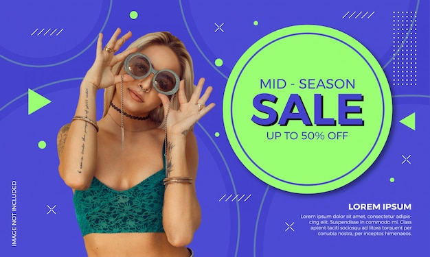 Szablon transparent sprzedaż moda Premium Wektorów