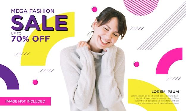 Szablon transparent sprzedaż promocyjna moda Premium Wektorów