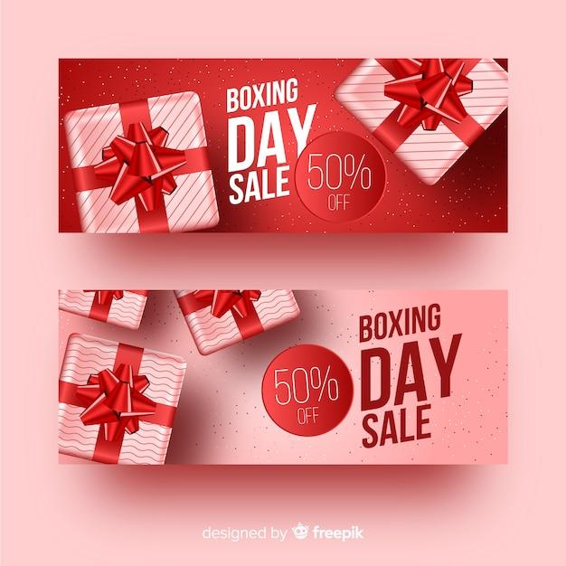 Szablon Transparent Sprzedaż Realistyczne Drugi Dzień świąt Darmowych Wektorów